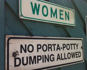 Sign: Porta-Potty Dumping: Allowed or not Allowed?