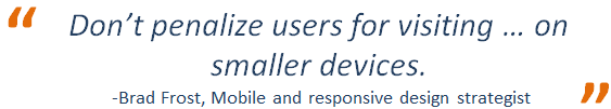 Responsive design quote