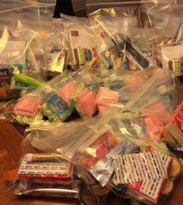 Bags of useful items for the homeless. ~ Photo: Lisa Wilkinson